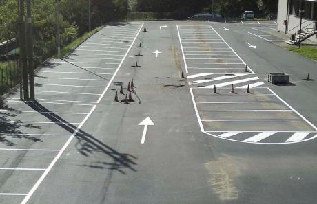 Segnaletica stradale, frecce direzionali su strada